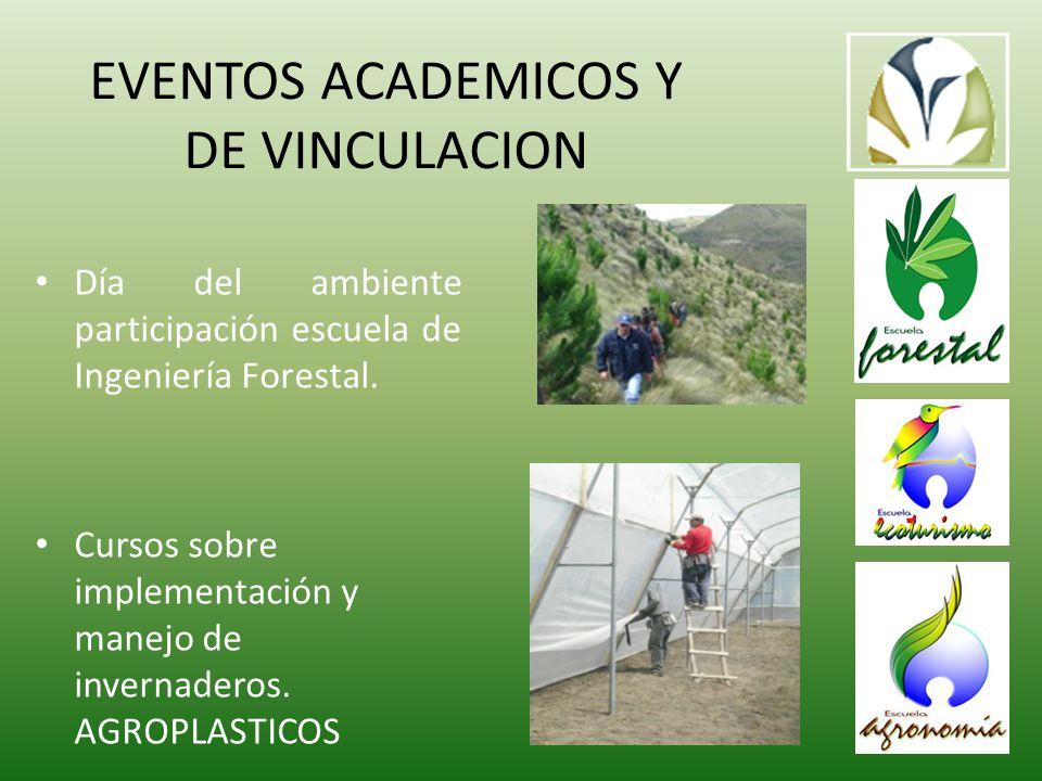 EVENTOS ACADEMICOS Y DE VINCULACION Día del ambiente participación escuela de Ingeniería Forestal.