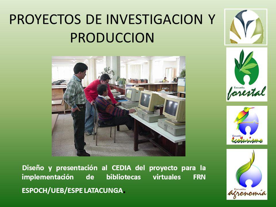 Diseño y presentación al CEDIA del proyecto para la implementación de bibliotecas virtuales FRN ESPOCH/UEB/ESPE LATACUNGA.