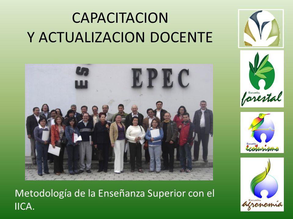 CAPACITACION Y ACTUALIZACION DOCENTE Metodología de la Enseñanza Superior con el IICA.