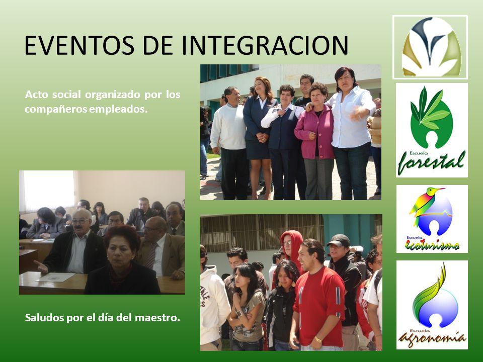 EVENTOS DE INTEGRACION Acto social organizado por los compañeros empleados.