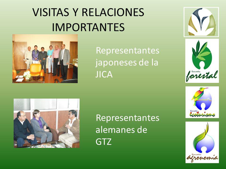 VISITAS Y RELACIONES IMPORTANTES Representantes japoneses de la JICA Representantes alemanes de GTZ