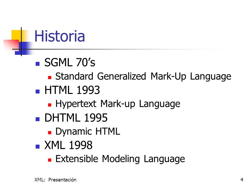 XML: Presentación25 DOCUMENTO XLS-FO Descripciones de la clase de páginas que pueden haber en el documento.