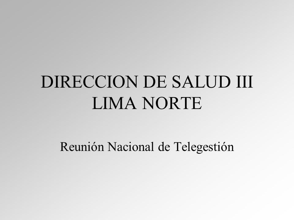 DIRECCION DE SALUD III LIMA NORTE Reunión Nacional de Telegestión