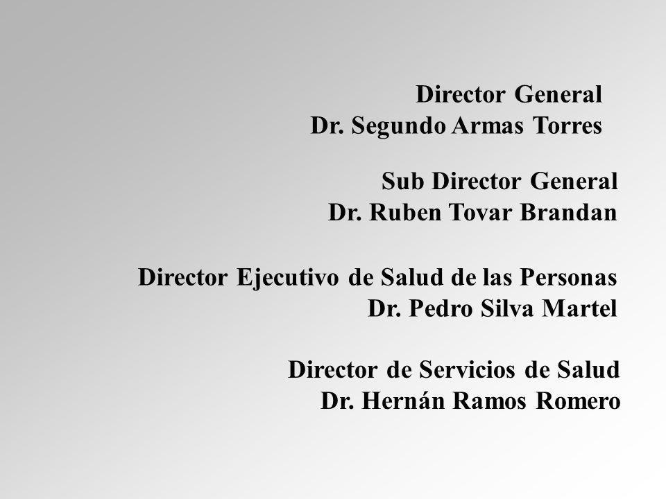 Director General Dr. Segundo Armas Torres Sub Director General Dr.