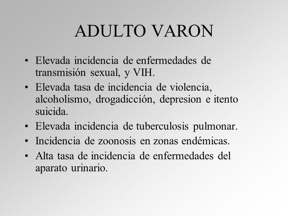 ADULTO MAYOR Elevada incidencia de enfermedades de cardiovasculares y diabetes.
