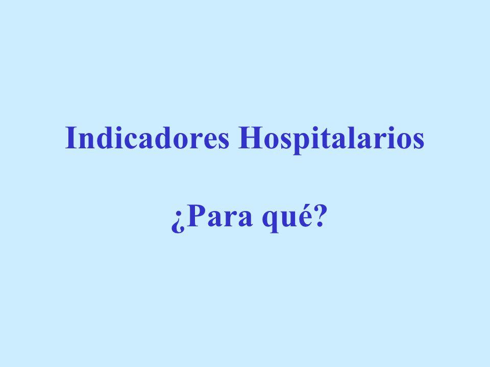 Indicadores Hospitalarios ¿Para qué?