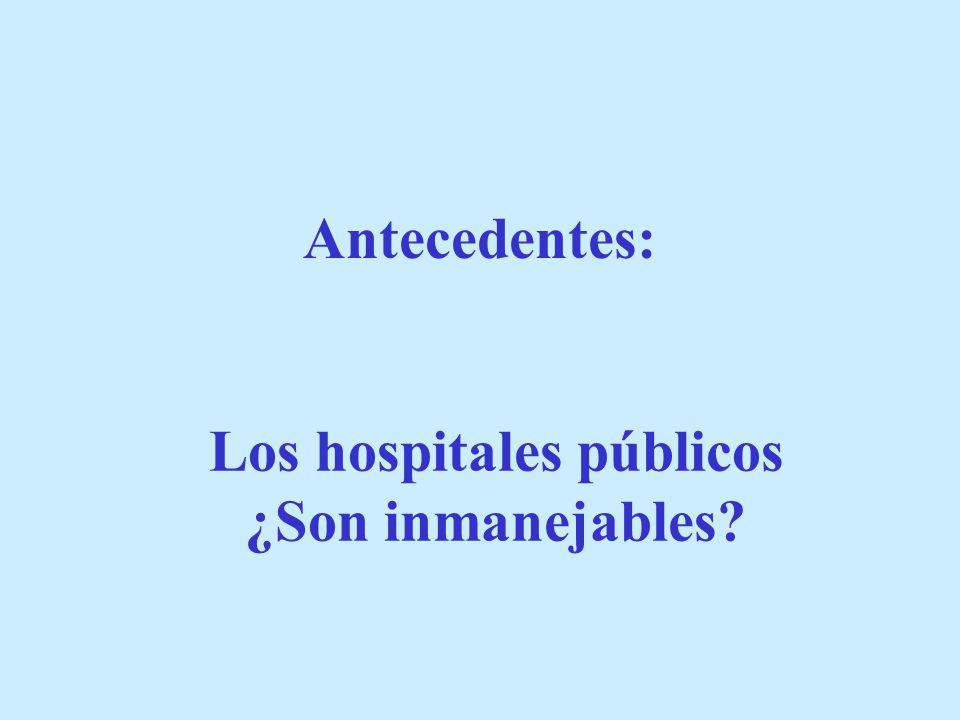 Antecedentes: Los hospitales públicos ¿Son inmanejables?