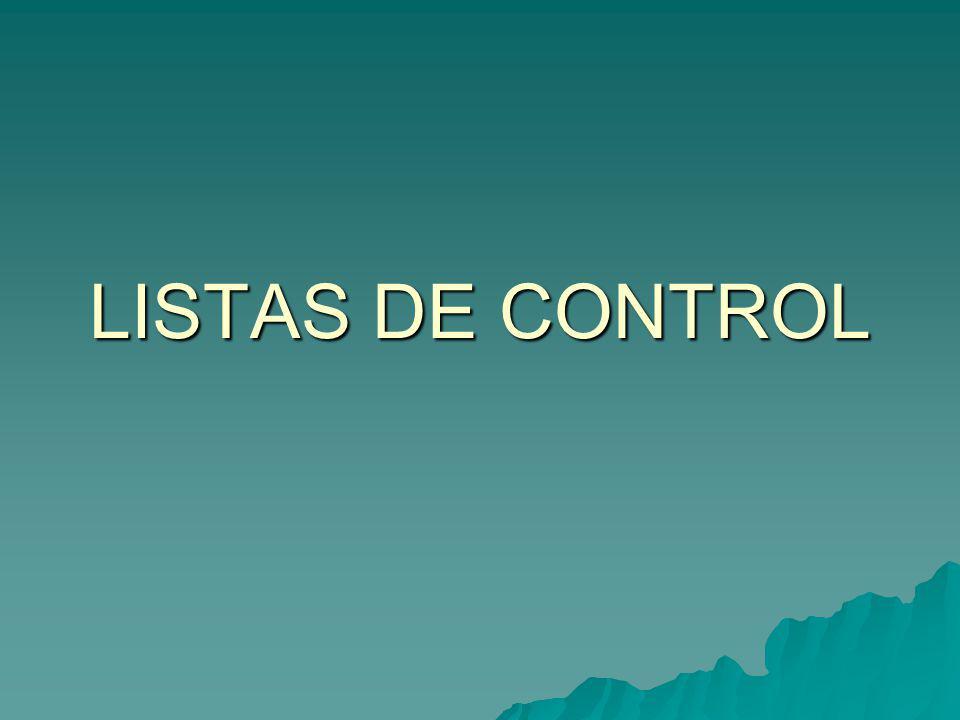 LISTAS DE CONTROL