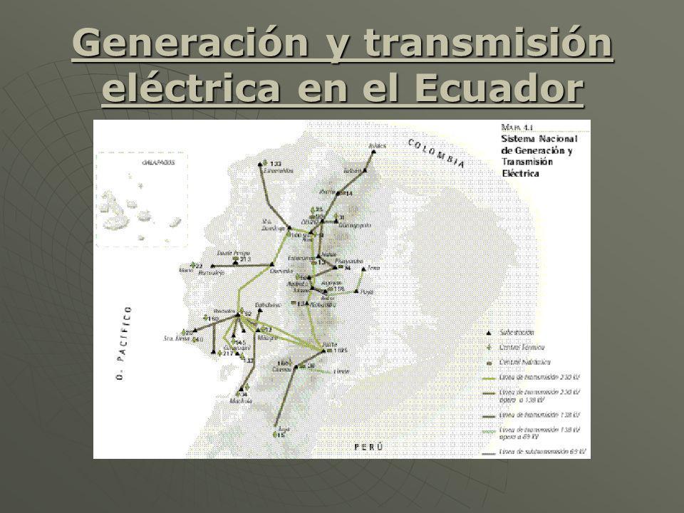 Generación y transmisión eléctrica en el Ecuador