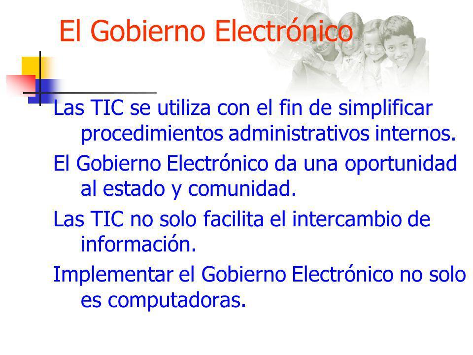 El Gobierno Electrónico Las TIC pueden presentar riesgos: Deficiencias y Debilidades preexistentes.