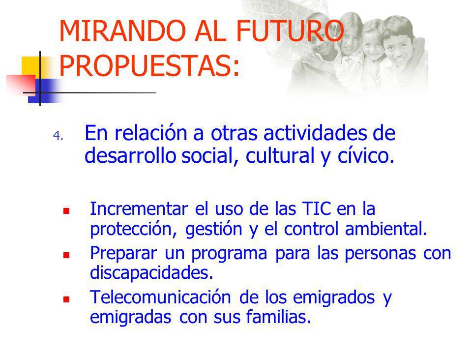 MIRANDO AL FUTURO PROPUESTAS: 4.