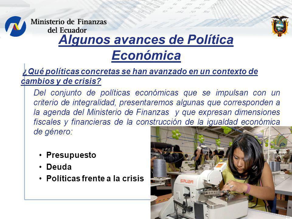 ¿Qué políticas concretas se han avanzado en un contexto de cambios y de crisis? Del conjunto de políticas económicas que se impulsan con un criterio d