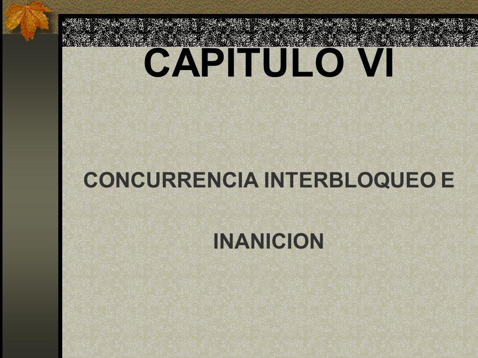 CAPITULO VI CONCURRENCIA INTERBLOQUEO E INANICION