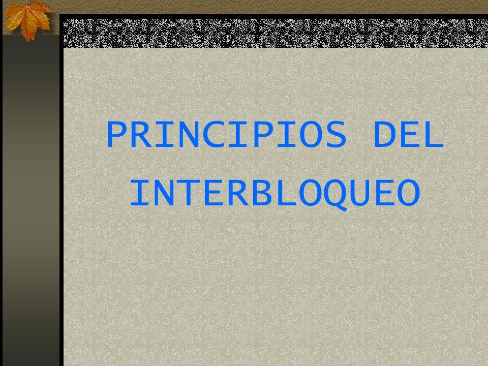 PRINCIPIOS DEL INTERBLOQUEO