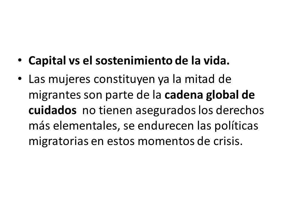 Capital vs el sostenimiento de la vida.