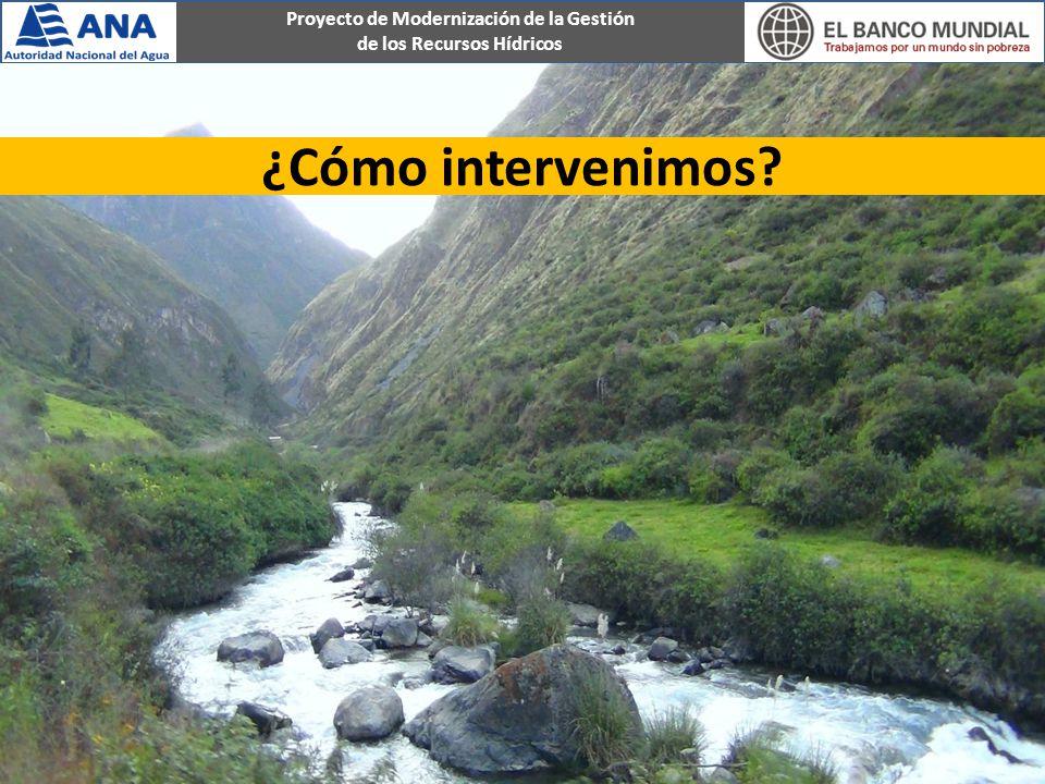 Proyecto de Modernización de la Gestión de los Recursos Hídricos ¿Cómo intervenimos?