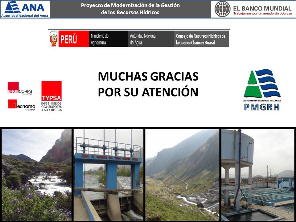 Proyecto de Modernización de la Gestión de los Recursos Hídricos MUCHAS GRACIAS POR SU ATENCIÓN