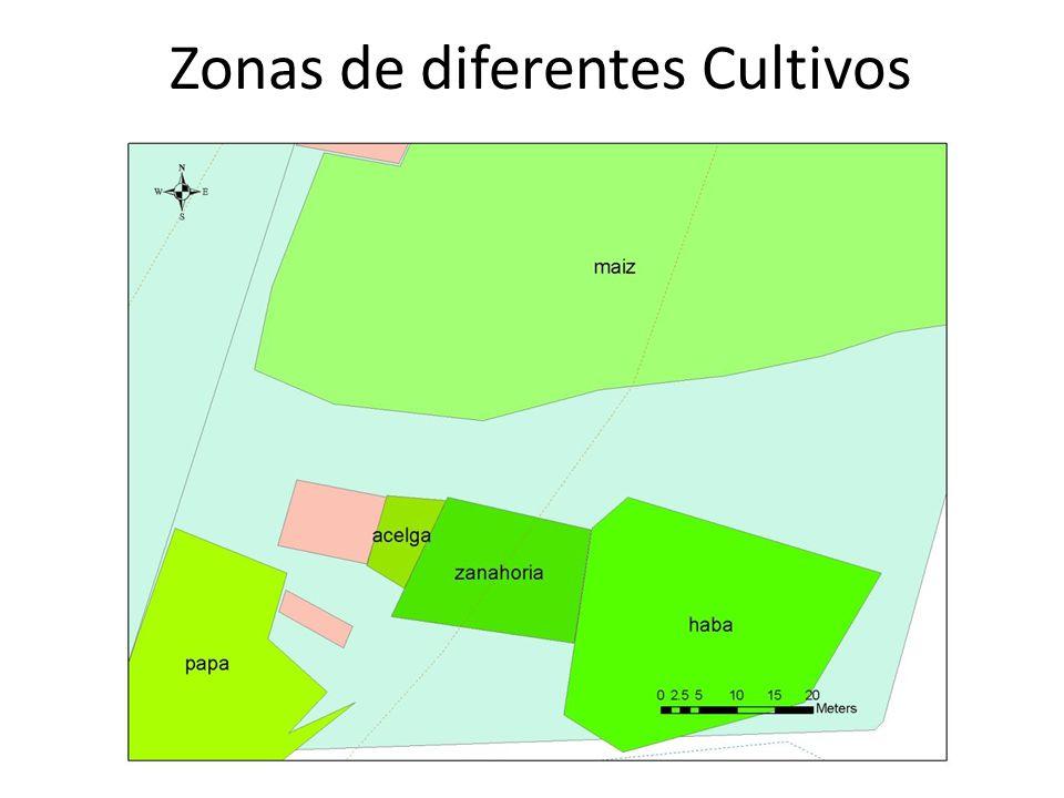 Zonas de diferentes Cultivos