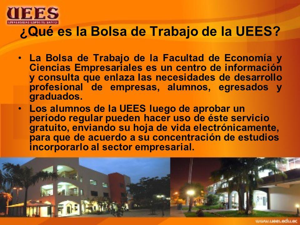 ¿Qué es la Bolsa de Trabajo de la UEES.