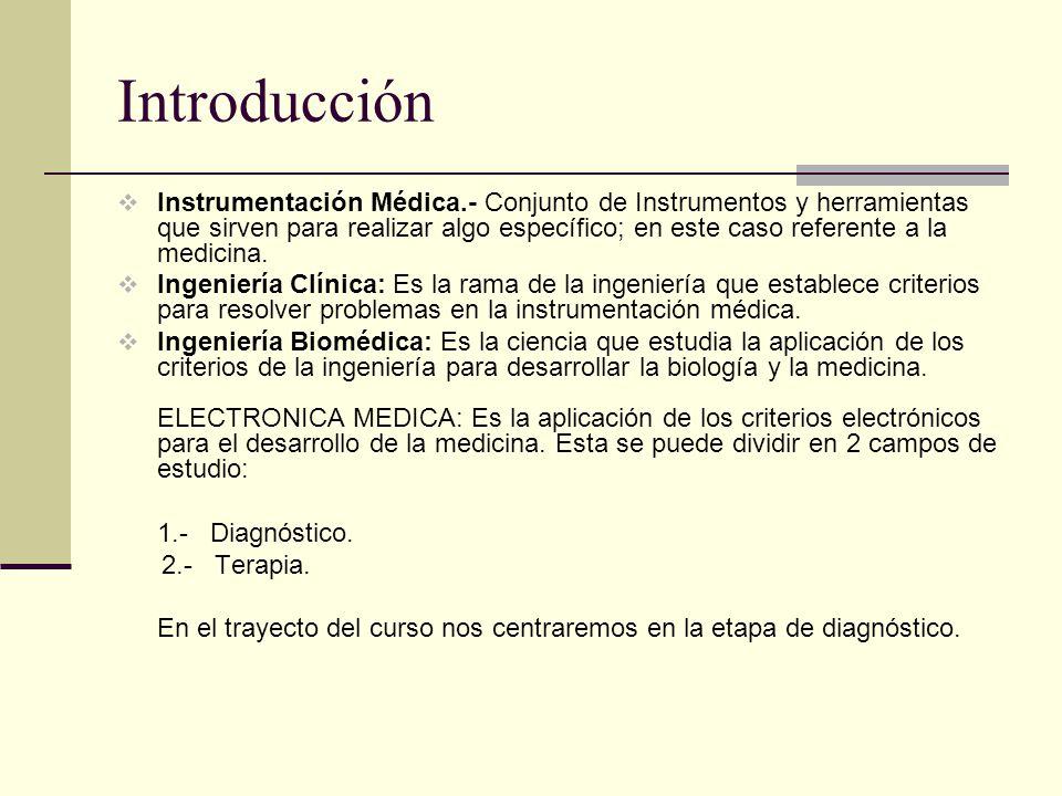 Introducción DIAGRAMA BASICO DE LA ETAPA DE DIAGNOSTICO ESPECIFICACIONES DE UN INSTRUMENTO DE MEDICION CUALQUIERA 1.