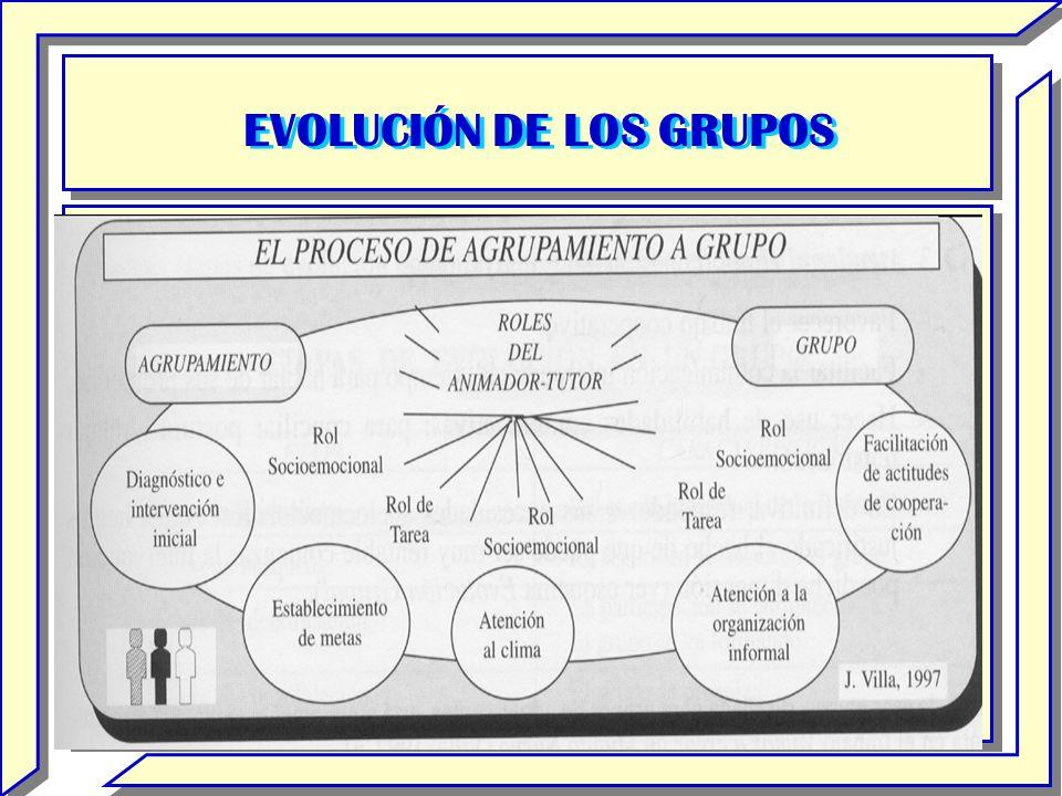 EVOLUCIÓN DE LOS GRUPOS