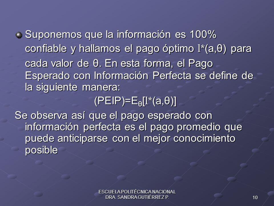 10 ESCUELA POLITÉCNICA NACIONAL DRA.SANDRA GUTIÉRREZ P.