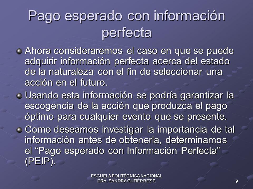 9 ESCUELA POLITÉCNICA NACIONAL DRA.SANDRA GUTIÉRREZ P.