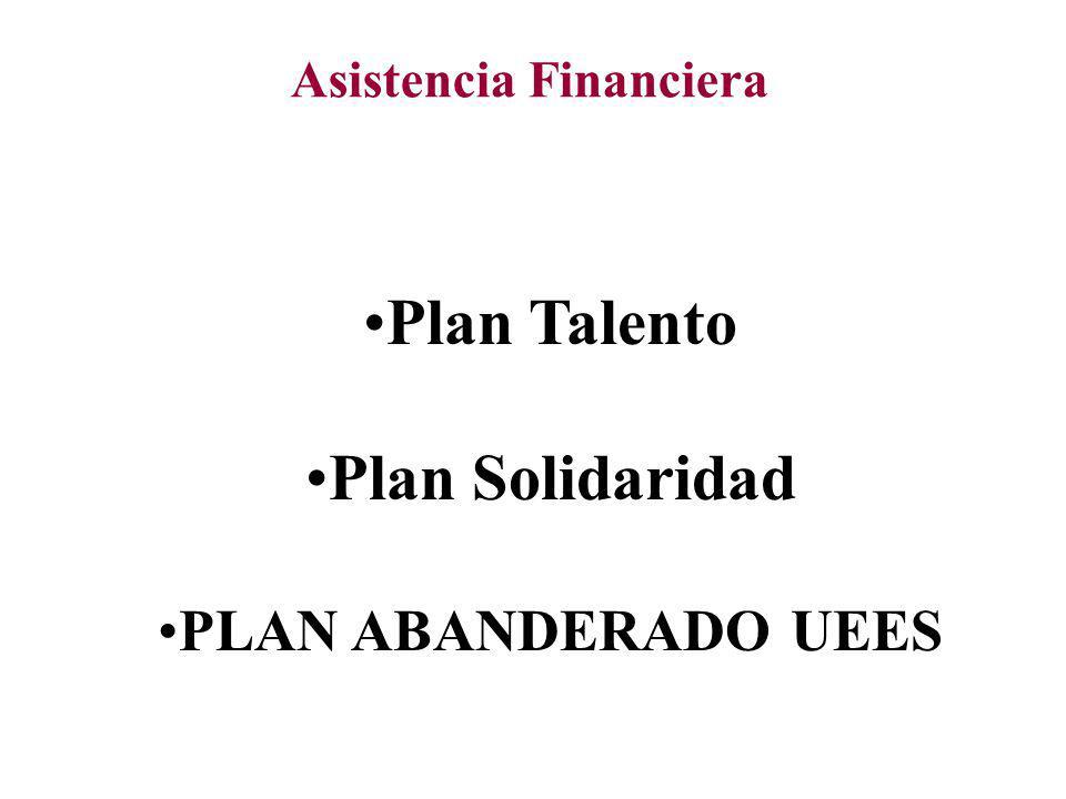 Asistencia Financiera Plan Talento Plan Solidaridad PLAN ABANDERADO UEES