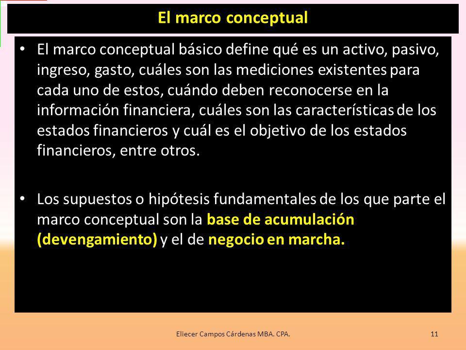 Misión del marco conceptual Explicar el objetivo de la información financiera empresarial, Qué características cualitativas determinan su utilidad, A