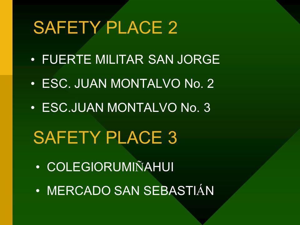 SAFETY PLACE 2 FUERTE MILITAR SAN JORGE ESC. JUAN MONTALVO No.