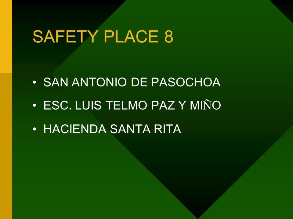 SAFETY PLACE 8 SAN ANTONIO DE PASOCHOA ESC. LUIS TELMO PAZ Y MI Ñ O HACIENDA SANTA RITA