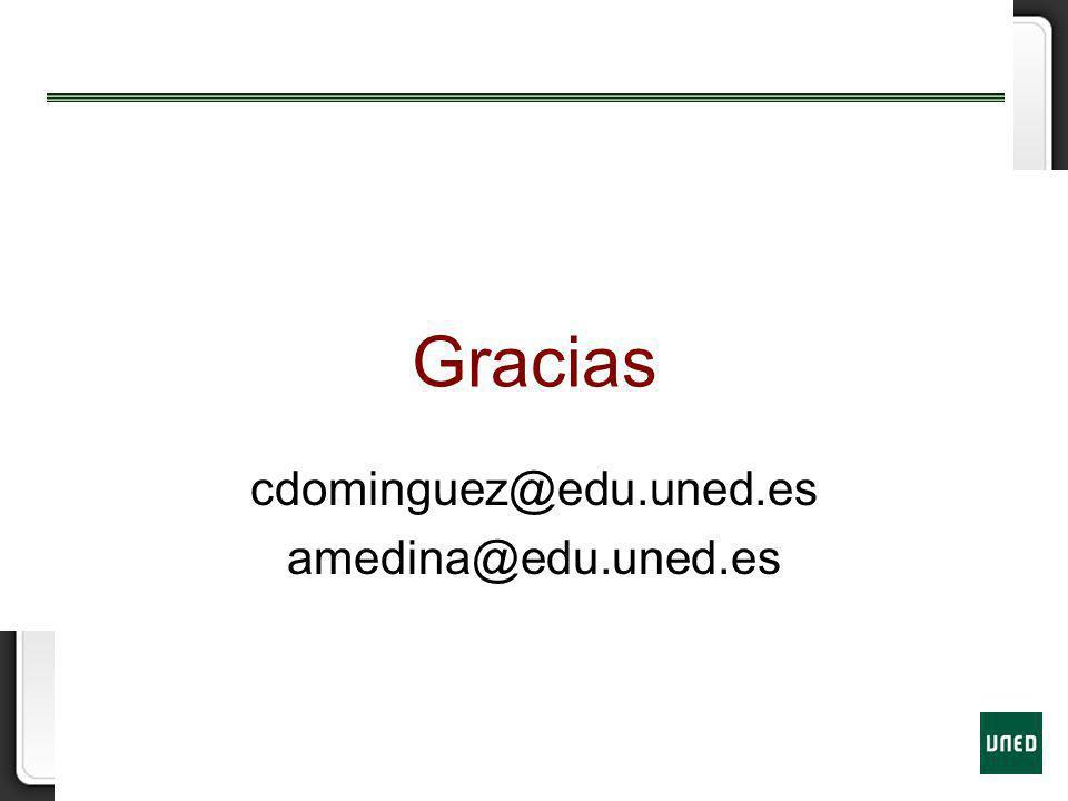 Gracias cdominguez@edu.uned.es amedina@edu.uned.es