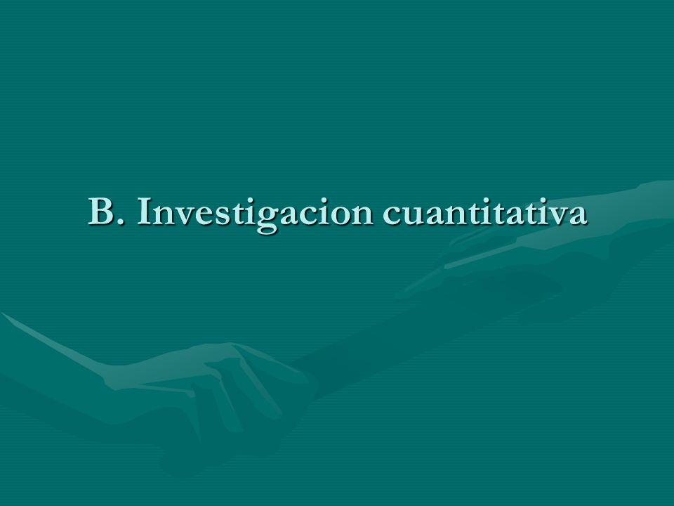 B. Investigacion cuantitativa