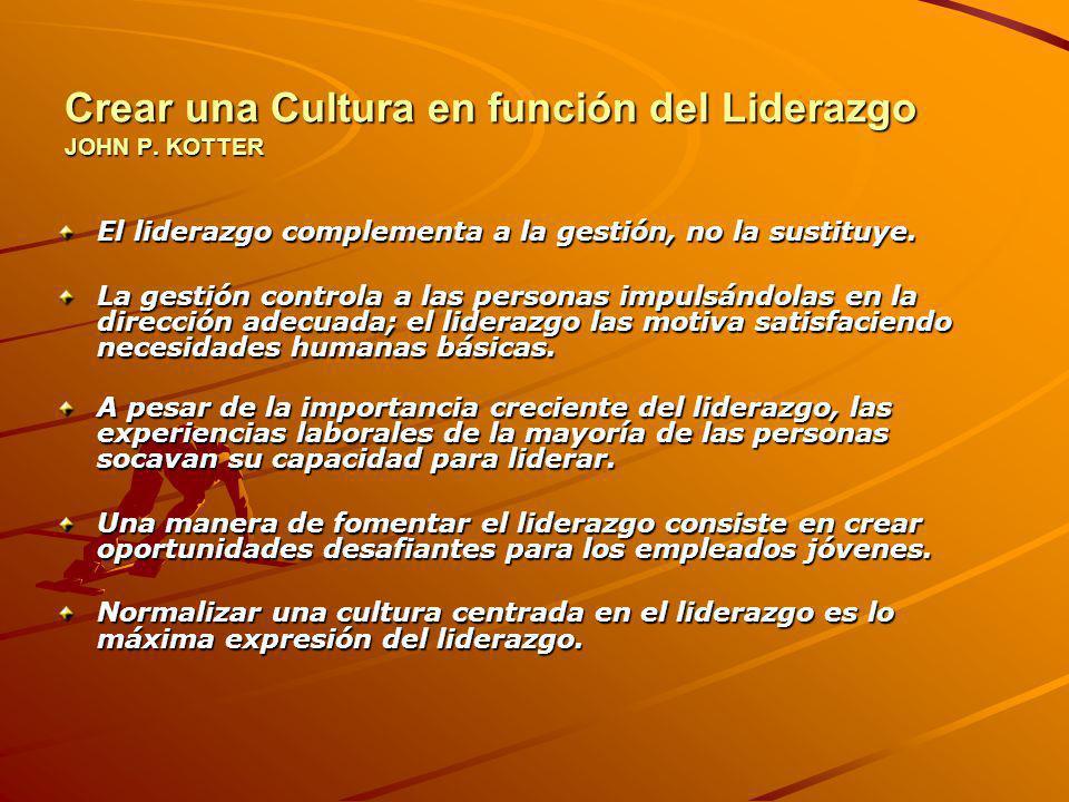 Crear una Cultura en función del Liderazgo JOHN P.