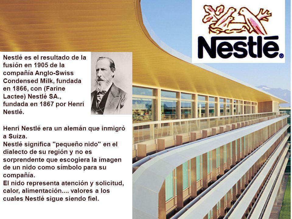Henri Nestlé era un alemán que inmigró a Suiza. Nestlé significa