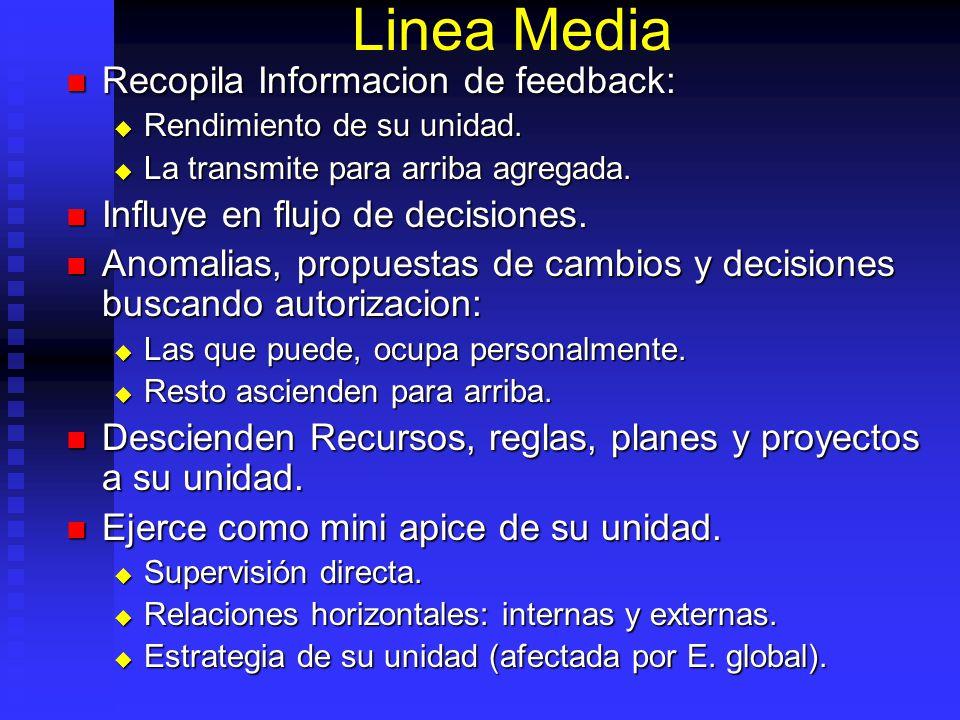 Linea Media Recopila Informacion de feedback: Recopila Informacion de feedback: Rendimiento de su unidad. Rendimiento de su unidad. La transmite para