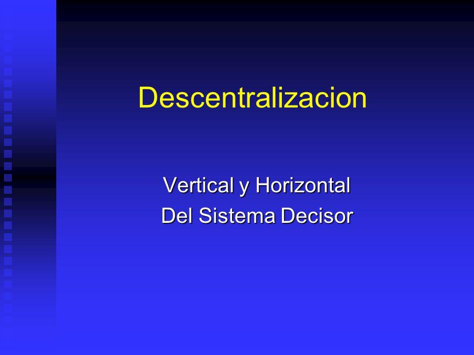 Descentralizacion Vertical y Horizontal Del Sistema Decisor