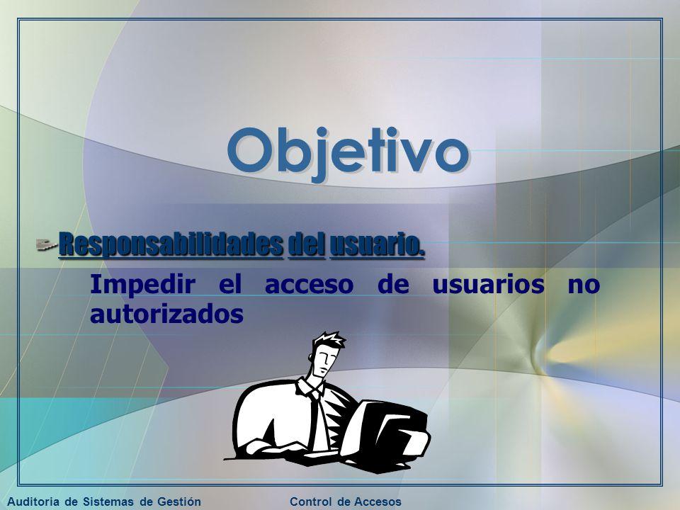 Auditoria de Sistemas de GestiónControl de Accesos Responsabilidades del usuario.