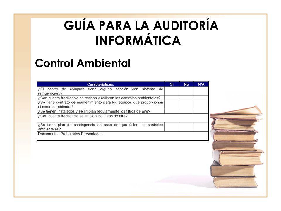 GUÍA PARA LA AUDITORÍA INFORMÁTICA Instalación eléctrica