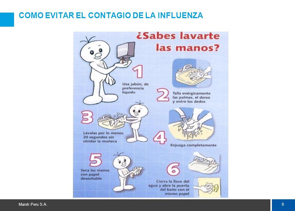 8 Marsh Peru S.A. COMO EVITAR EL CONTAGIO DE LA INFLUENZA