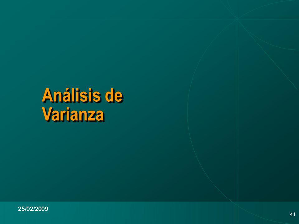 41 25/02/2009 Análisis de Varianza