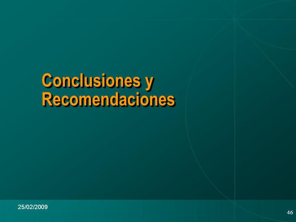 46 25/02/2009 Conclusiones y Recomendaciones