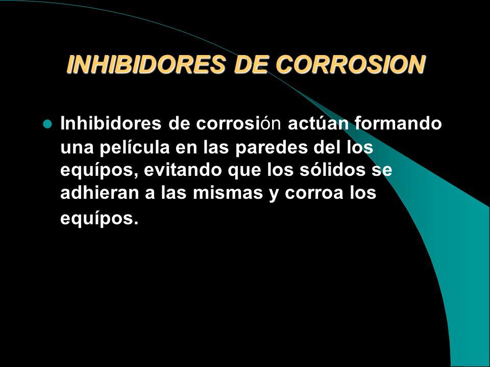 TRATAMINTO QUÍMICO TRATAMIENTOQUIMICO USO MARCACONSUMO GAL/DIA COSTOS GAL/MES $ ANTICORROSIVOSINHIBIDOR DE CORROSION P -11064960 ANTIESCALAINHIBIDOR D