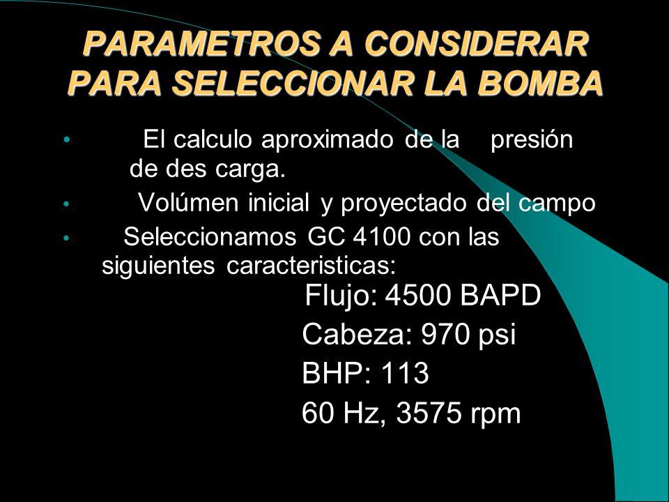 SELECCIÓN DE LA BOMBA DE ALTA PRESIÓN El sístema contiene una bomba centrifuga multietapa colocada horizontalmente montada sobre un Skid para nuestra