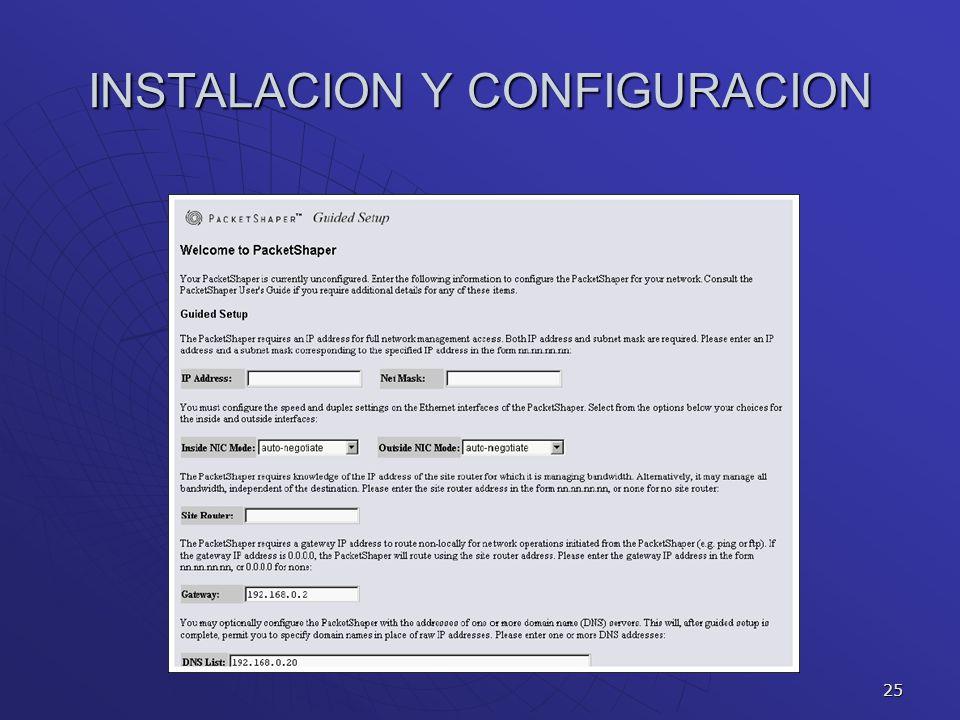 25 INSTALACION Y CONFIGURACION