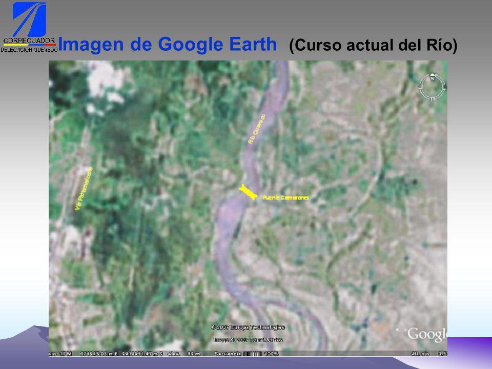 Imagen de Google Earth (Curso actual del Río)