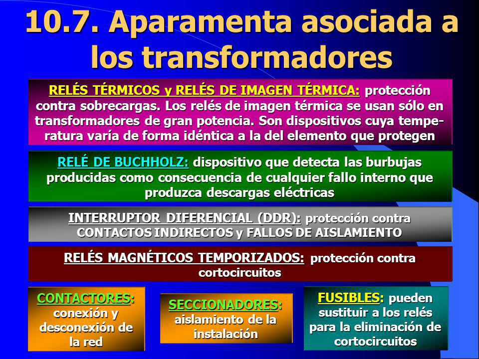 10.7. Aparamenta asociada a los transformadores RELÉS TÉRMICOS y RELÉS DE IMAGEN TÉRMICA: protección contra sobrecargas. Los relés de imagen térmica s