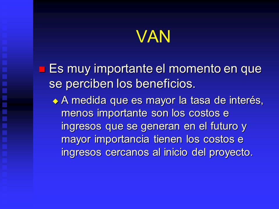 Valor Actual Neto La regla del Valor Actual Neto (VAN o VPN) es el principal criterio de selección. La regla del Valor Actual Neto (VAN o VPN) es el p