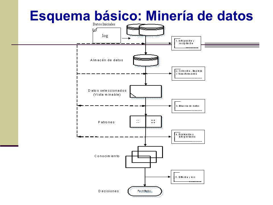 Datos Iniciales. log Esquema básico: Minería de datos