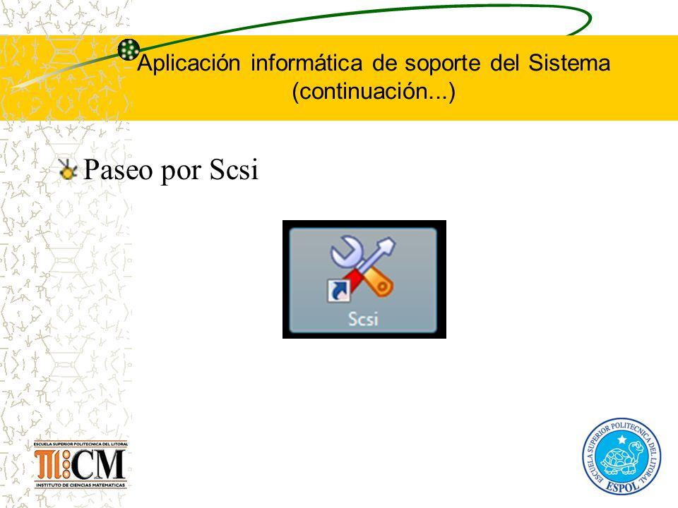 Aplicación informática de soporte del Sistema (continuación...) Paseo por Scsi